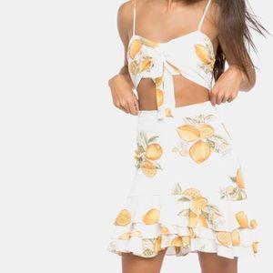 NEW For Love & Lemons Limonada Skirt Set
